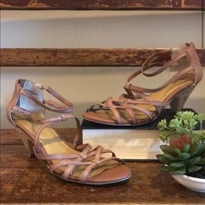Seychelles Strappy Heeled Sandals Brown Tan